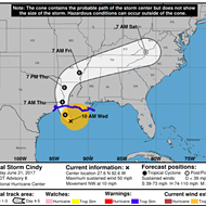 Flash Floods Predicted as Tropical Storm Cindy Moves Through