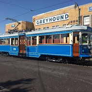 Vintage Steel-Wheeled Trolley Testing to Continue on Main Street