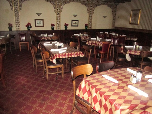 Fire didn't spread to the dining areas of Pete and Sam's. - MICHAEL DONAHUE