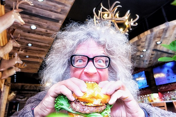 Michael Donahue's Kooky Canuck hamburger was a much smaller version of the King Kookamonga burger devoured in a record-breaking challenge at the restaurant. - JON SPARKS