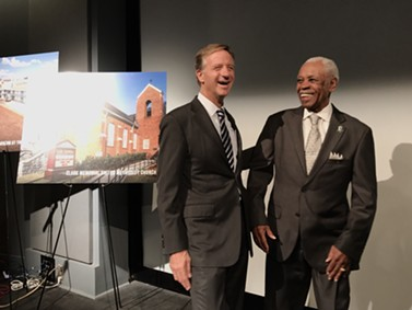 Gov. Bill Haslam and 1968 sanitation worker Elmore Nickleberry