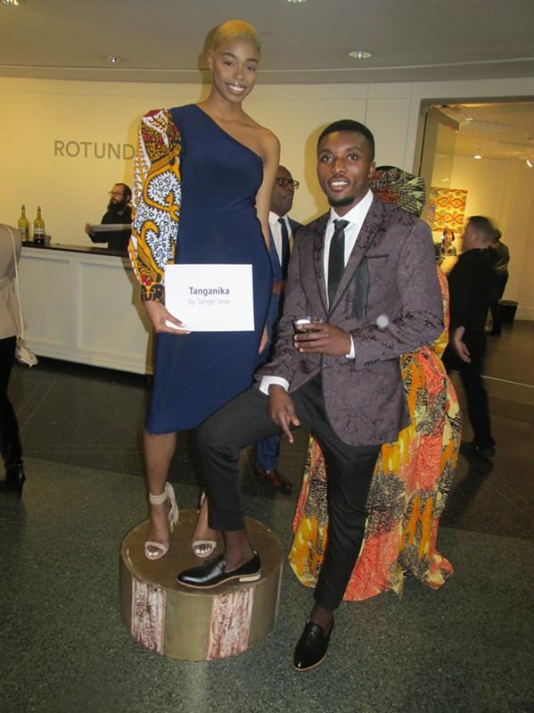 Danielle Tyson and Alphone Muhubiri at African-Print Fashion Now! - MICHAEL DONAHUE