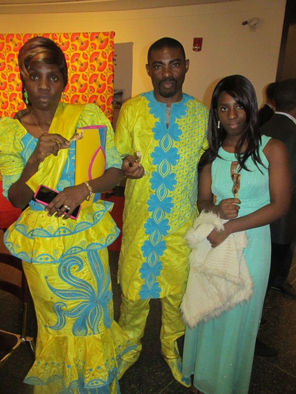 Jocelyn Sengiyumva, Yope Kwangaba and Emilienn Yope at African-Print Fashion Now! - MICHAEL DONAHUE