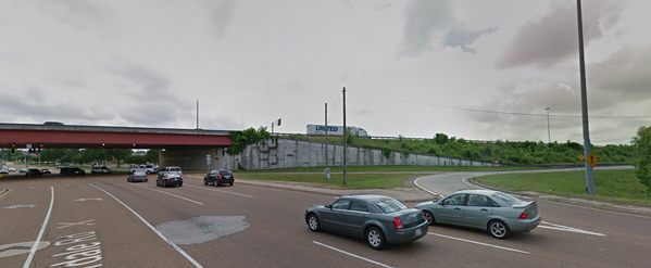 Close to the corner of Bill Morris Parkway and Riverdale where an inmate walked away from trash detail Tuesday. - GOOGLE MAPS