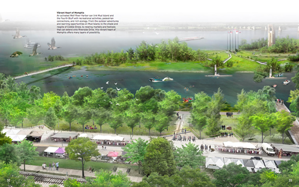 Studio Gang's concept plan shows a reactivated Wolf River Harbor. - STUDIO GANG
