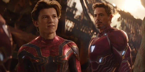 Spider-Man (Tom Holland) and Iron Man (Robert Downey, Jr.) get lost in space.