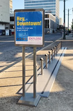 A Downtown bike-share station - EXPLORE BIKE SHARE