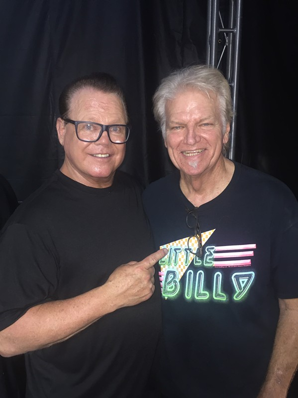 Jerry Lawler and Larry Raspberry at Memphis Italian Fest. Raspberry and his High Steppers performed at the event. - MICHAEL DONAHUE