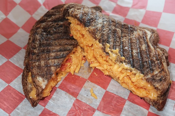 Grilled pimento cheese at Lisa's Lunchbox - MICHAEL DONAHUE