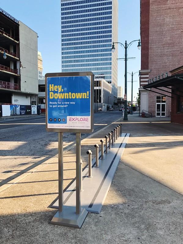 A Downtown bike-share station - EXPLORE BIKE SHARE