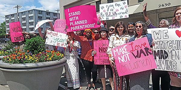 Planned Parenthood demonstrators - JACKSON BAKER