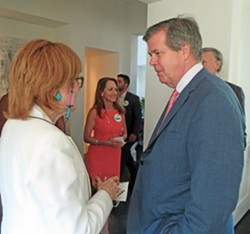 Gunetnatorial candidate Karl Dean works the room at a recent fundraiser. - JB