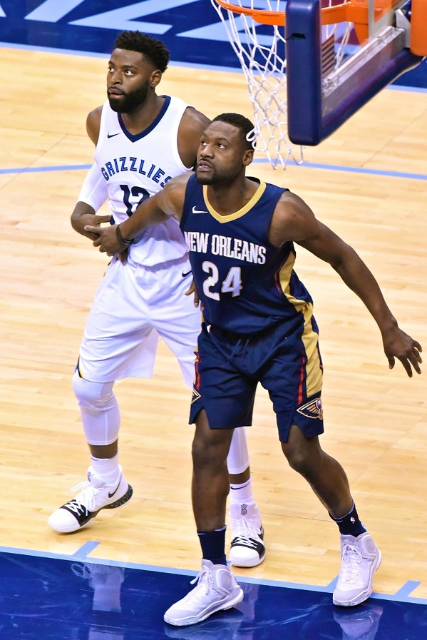 Tyreke Evans and Tony Allen, in a photo that will never stop looking weird to me - LARRY KUZNIEWSKI