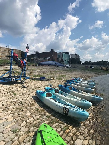 Kayak tours of the Wolf River Harbor will begin Saturday. (Photo courtesy of Kayak Memphis Tours/Facebook.)