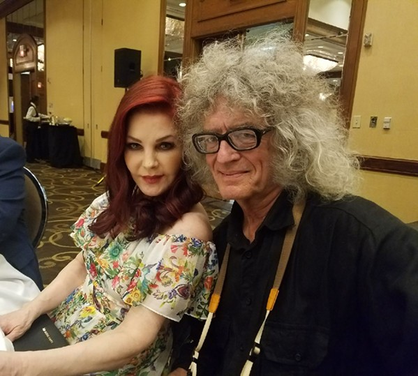 I had the pleasure of having my photo taken with Priscilla Presley the night she received the AutoZone Liberty Bowl Distinguished Citizen Award. - HAROLD GRAETER