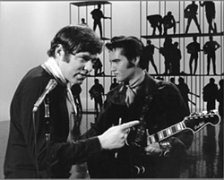 Steve Binder & Elvis Presley on the set of Singer Presents... Elvis.
