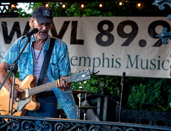 Kenny Brown plays this year's Blues on the Bluff, WEVL's largest annual fundraiser. - WEVL/FACEBOOK