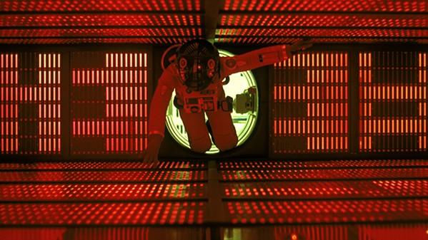 David Bowman (Kier Duella) confronts the rogue computer HAL.