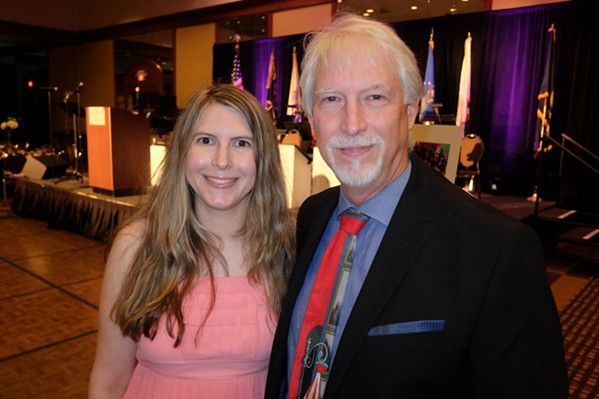 Dr. Rice Drewry and his daughter, Lauren, at Dreamgivers' Gala - MICHAEL DONAHUE