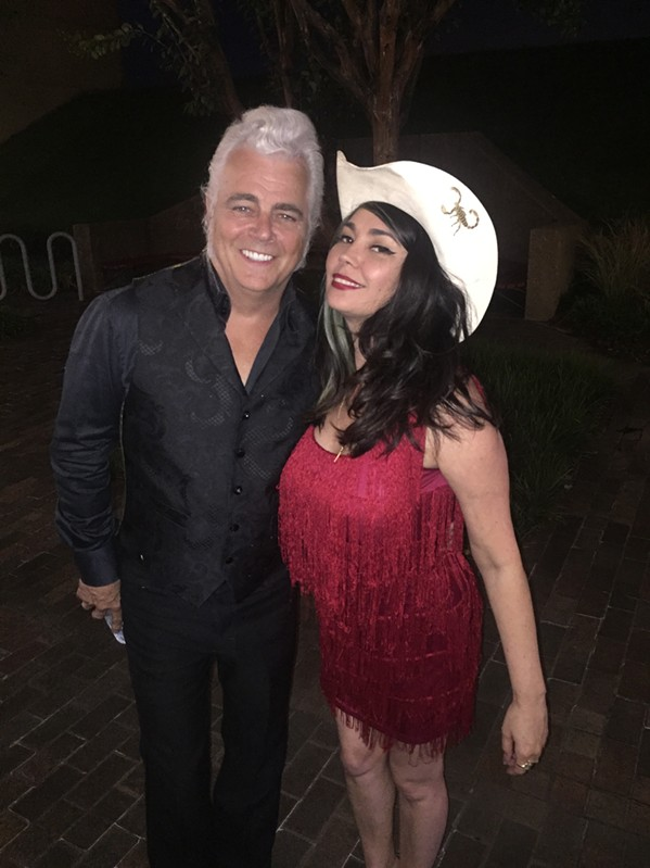 Dale Watson and Celine Lee at the Best of Memphis party. - MICHAEL DONAHUE