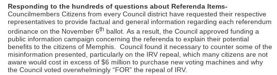 Councilman Berlin Boyd's Chairman's Recap