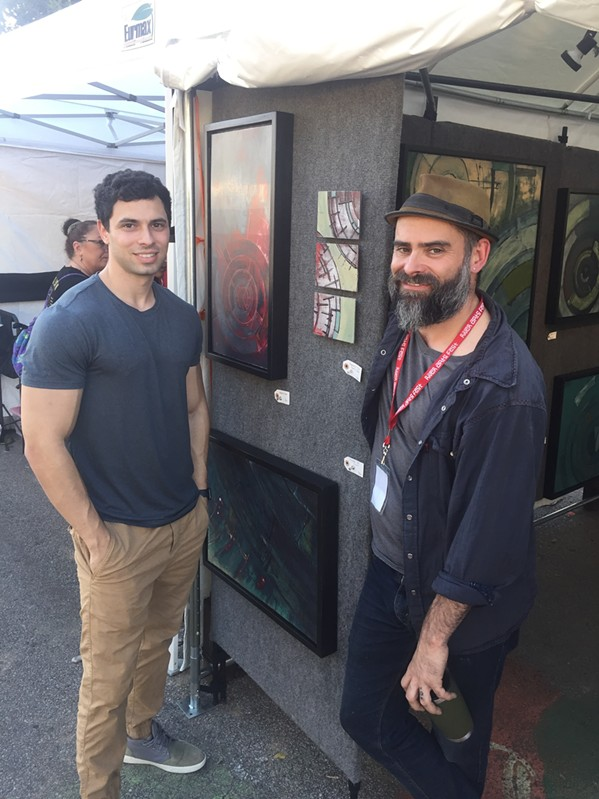 Jeremy Klubeck and Matthew Naftzger at RiverArtsFest - MICHAEL DONAHUE