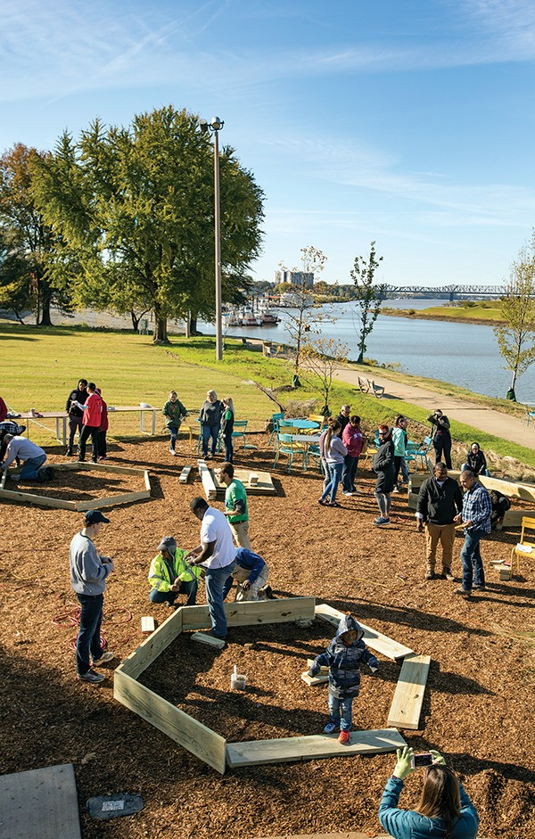 Adding to the riverfront — the just-completed River Garden infuses new life to the recently rebranded  Mississippi River Park.