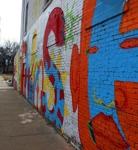 UAC's piece 'rise' painted at Humes Preparatory Academy - URBANART COMMISSION