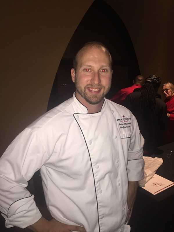Brian Thurmond at Wine & Dine. - MICHAEL DONAHUE