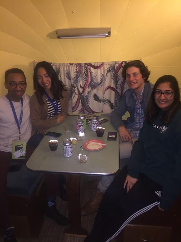 Jonathan Clarke, Sakura Horiuchi, Robert Stodola, Hibah Siddiqui at Indie Memphis filmmakers after party. - MICHAEL DONAHUE