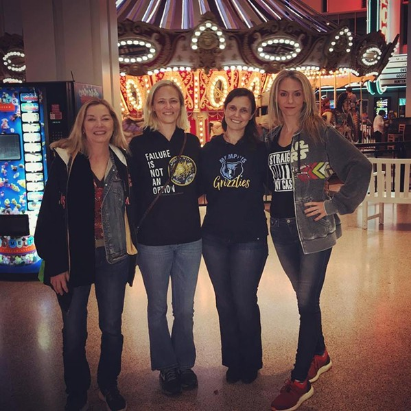 Shannon Arthur and others sport hoodies at Wolfchase Galleria - FACEBOOK