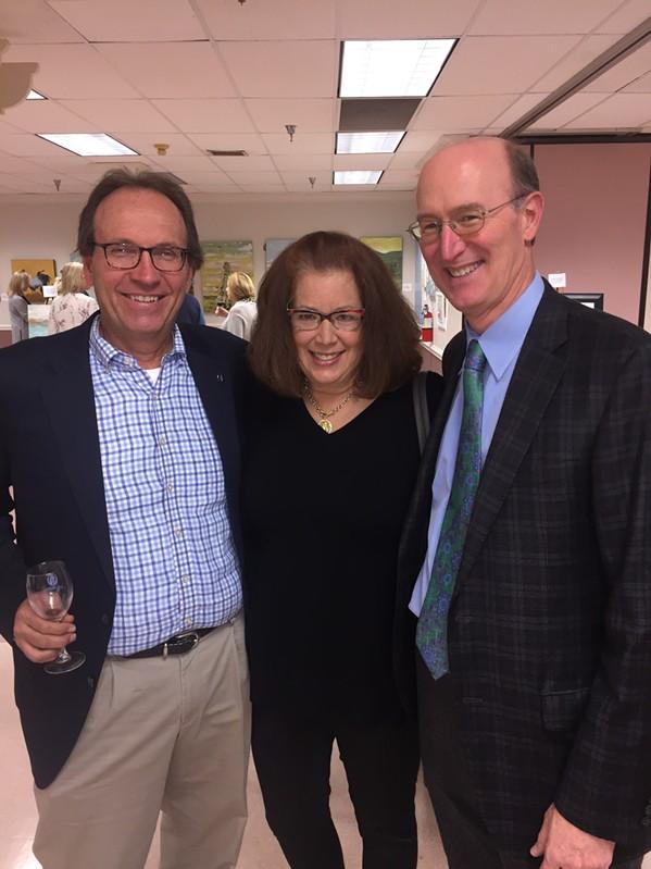 Ave Maria Board Member David Dahler and Amy Dahler with Frank Gattuso - MICHAEL DONAHUE