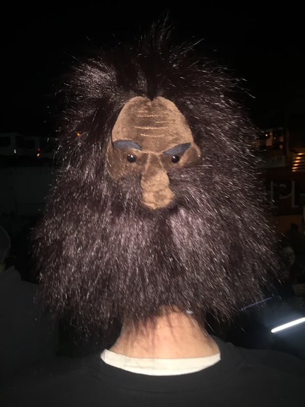 Kevin Harlow wore a Bigfoot on his head. - MICHAEL DONAHUE