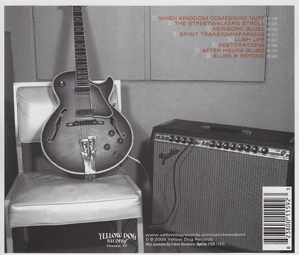 The back cover of the album New Born: a musical giant has moved on.