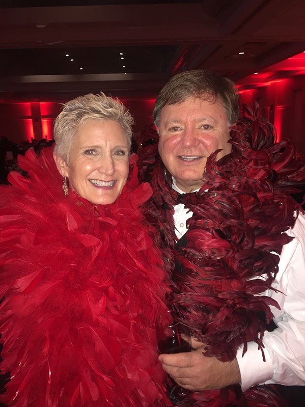 K.K. and Johnny Gross at Red Boa Ball - MICHAEL DONAHUE