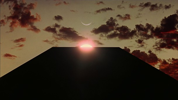 Sunrise over the Monolith in 2001: A Space Odyssey
