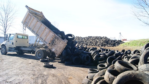 10,000 tires were collected on Monday - FACEBOOK- MICHAEL MEISTER