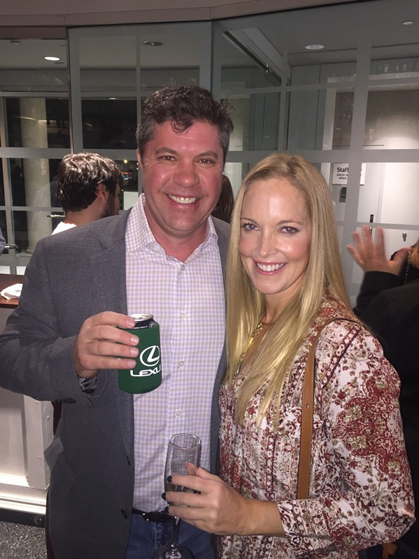 Bryan and Courtney Smith were  at the Vive le Brooks! launch party. - MICHAEL DONAHUE