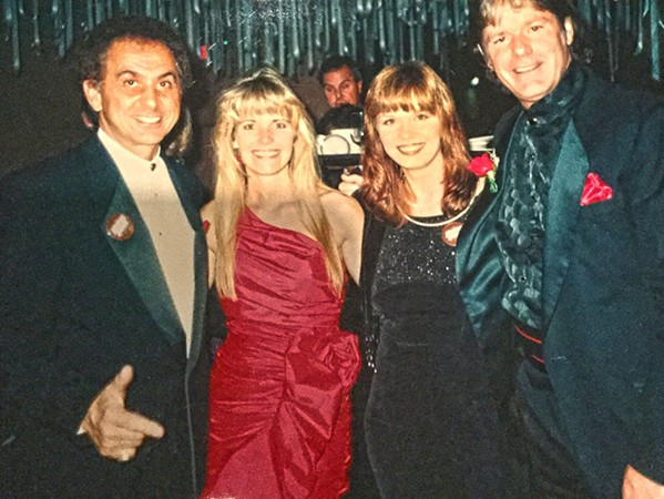George Klein, Cindy Schilling, Dara Klein and Jerry Schilling at The Blues Ball.