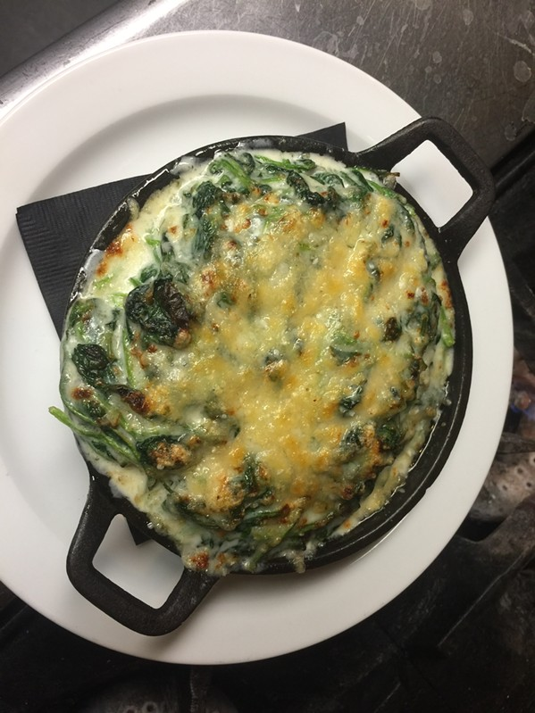 Creamed spinach at 117 Prime - MICHAEL DONAHUE