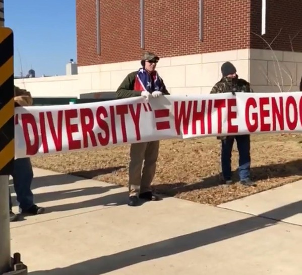A 2018 white Nationalist rally Downtown Memphis