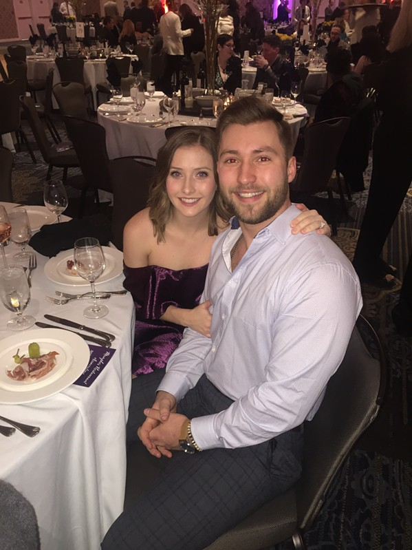 Amanda and Drew Cipala at Memphis Restaurant Association banquet. - MICHAEL DONAHUE
