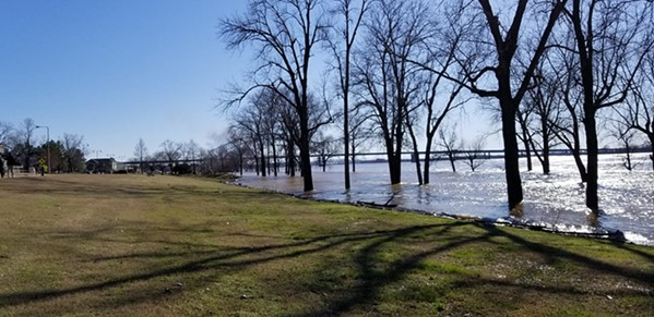 The Mississippi River at 38 feet on February 24th. - FACEBOOK- MIKE LAWHEAD