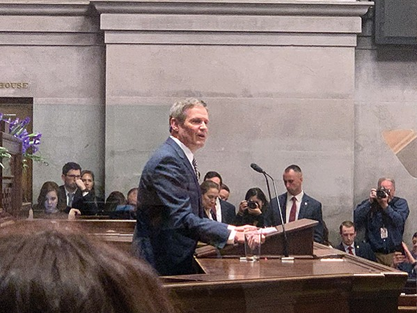 Governor Bill Lee, giving the State of the State Address - JACKSON BAKER