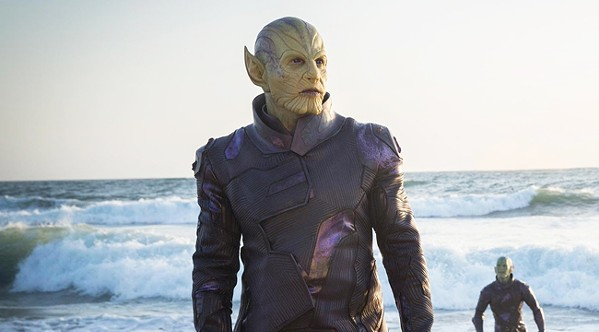 Surf's up for Ben Mendolsohn as Talos the Skrull.