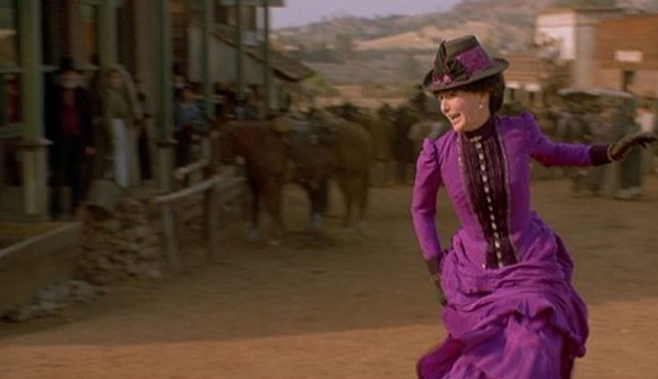 Mary Steenburgen as Clara Clayton runs through peril for about half of her screen time in Back To The Future 3.
