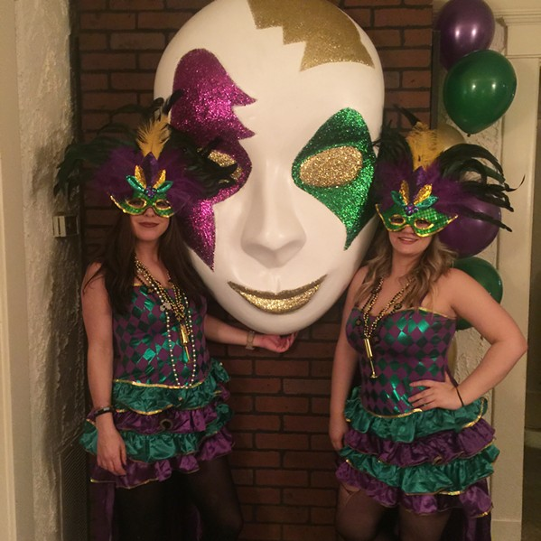 Crone Mardi Gras party. - MICHAEL DONAHUE