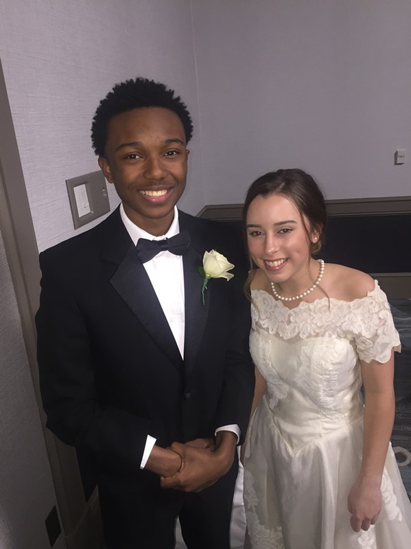 Langston Suggs and  Sarah Moran were at the Queen's Ball. - MICHAEL DONAHUE