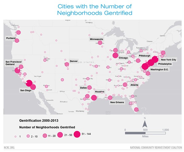 Number of areas gentrified in American cities - NATIONAL COMMUNITY REINVESTMENT COALITION