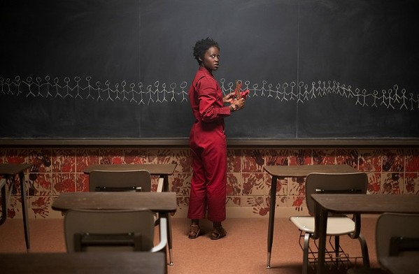 Lupita Nyong'o as Red in the climax of Us.
